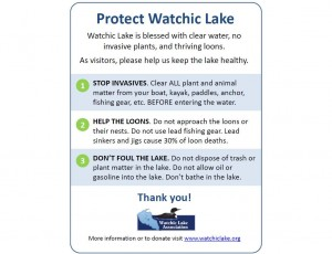 Protect our Lake Sign SBrder