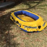 Lost: a Gray Float. Found: an Inflatable Boat.