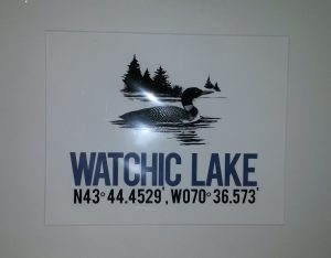 Watchic Lake Lat and Long Print 2