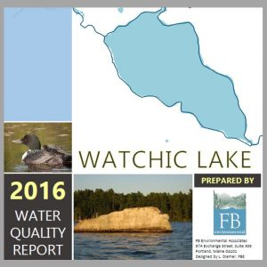 Report Cover for 2016 water quality report for Watchic Lake.