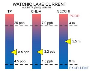 Watchic Lake 2017 Water Quality Report Chart