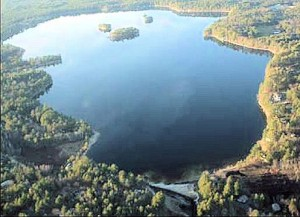 Watchic Lake aerial view from south