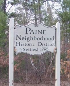 Entering Paine neighborhood, near Watchic Lake