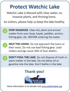 Protect our Lake Sign
