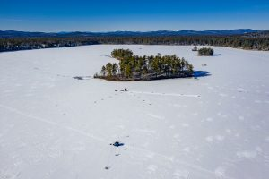 Aerial View of Watchic Lake 2020. Damon Aerial Imagery