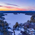 Winter Time on Watchic Lake – from the Sky