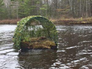 Loon nesting raft